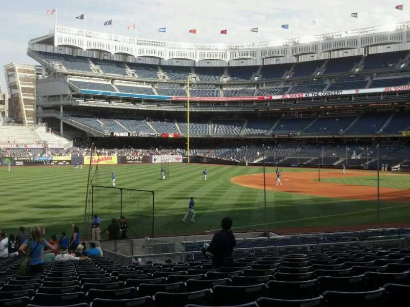Seating view for Yankee Stadium Section 129 Row 23 Seat 15