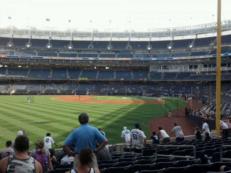 Seating view for Yankee Stadium Section 133 Row 24 Seat 9