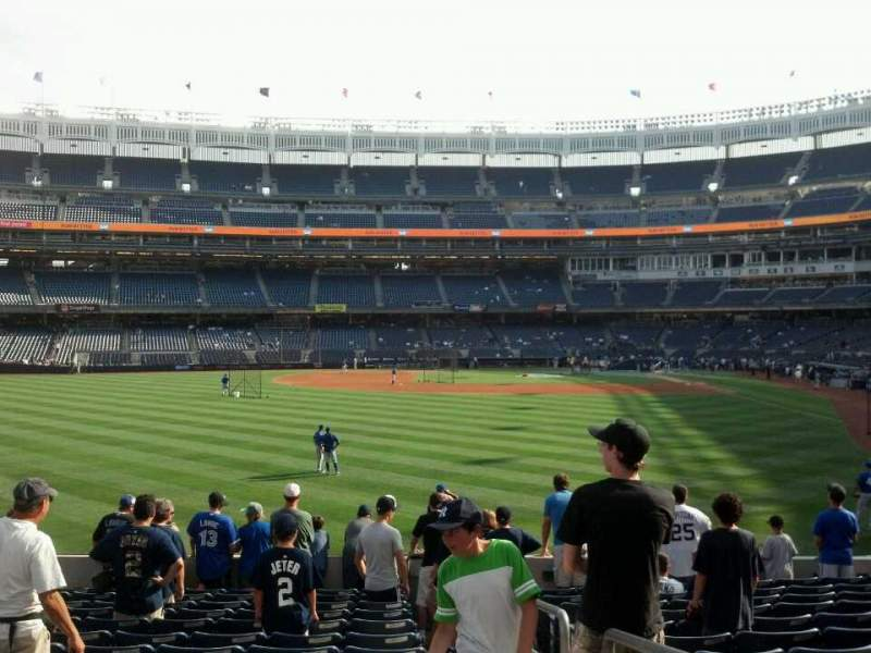 Seating view for Yankee Stadium Section 135 Row 23 Seat 1