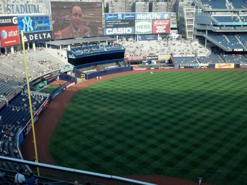 Seating view for Yankee Stadium Section 429 Row 2 Seat 11