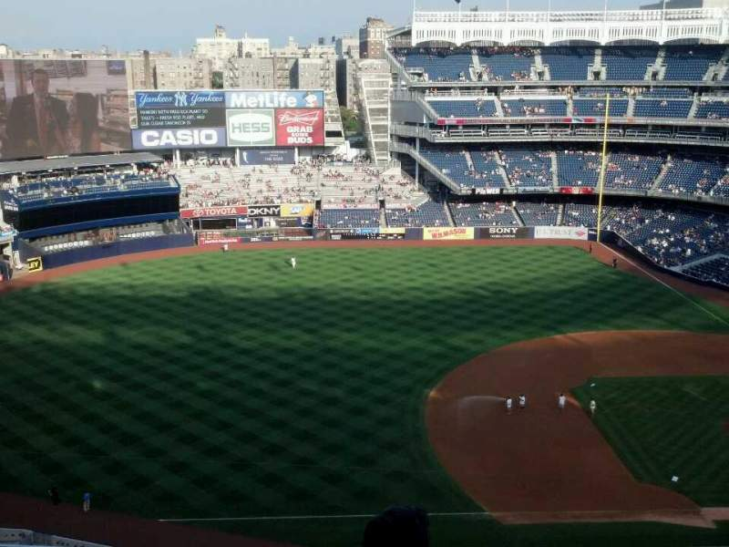 Seating view for Yankee Stadium Section 426 Row 4 Seat 13