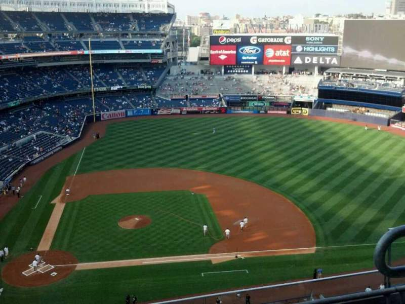 Seating view for Yankee Stadium Section 417 Row 4 Seat 3