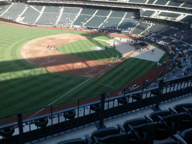 Seating view for Citi Field Section 427 Row 4 Seat 7