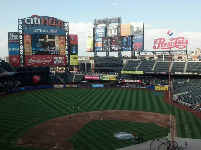 Seating view for Citi Field Section 419 Row 2 Seat 8