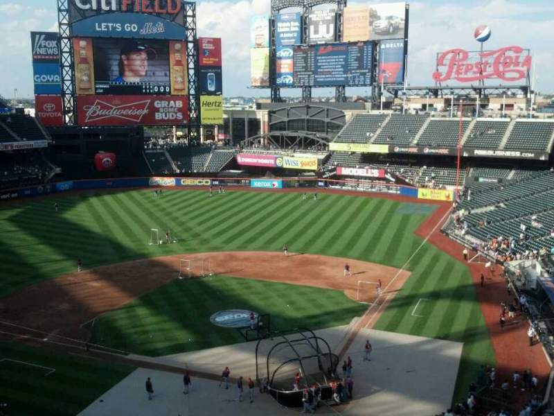 Seating view for Citi Field Section 417 Row 4 Seat 7