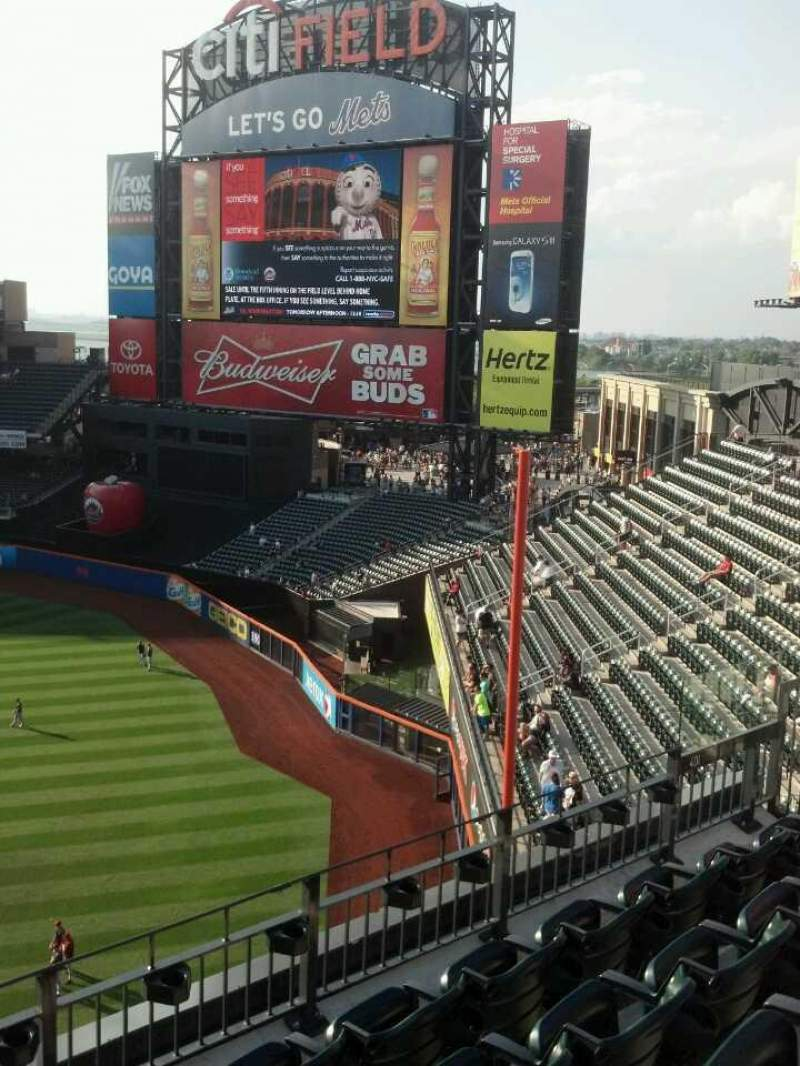 Seating view for Citi Field Section 401 Row 5 Seat 2