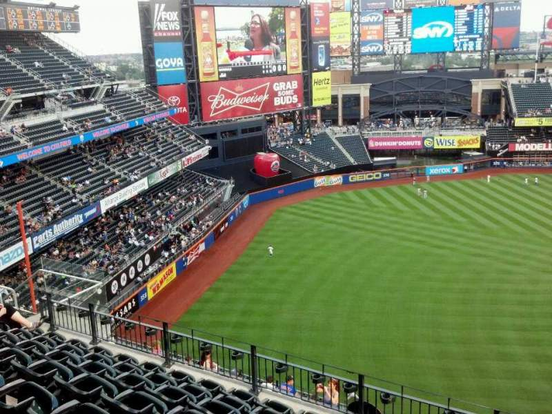 Seating view for Citi Field Section 526 Row 8 Seat 7