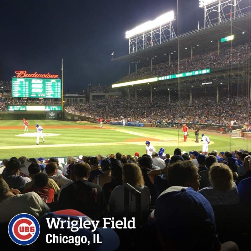 Seating view for Wrigley Field Section 112 Row 2 Seat 16