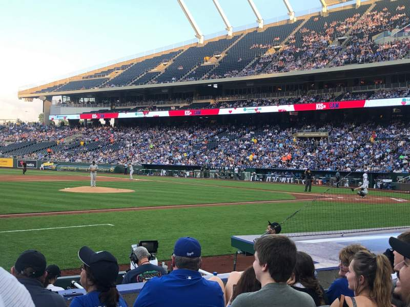 Seating view for Kauffman Stadium Section 119 Row E Seat 2