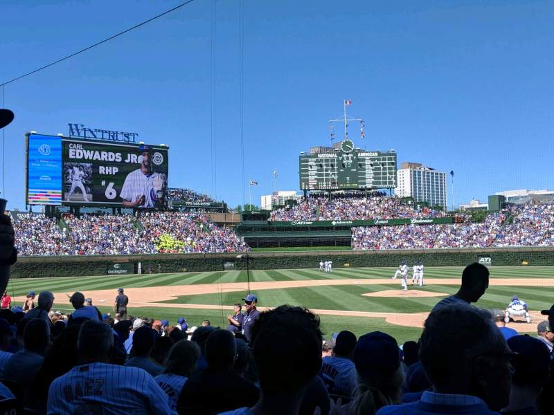 Seating view for Wrigley Field Section 116 Row 1 Seat 5