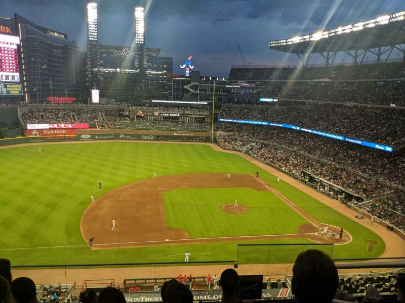 Seating view for SunTrust Park Section 333 Row 5 Seat 2