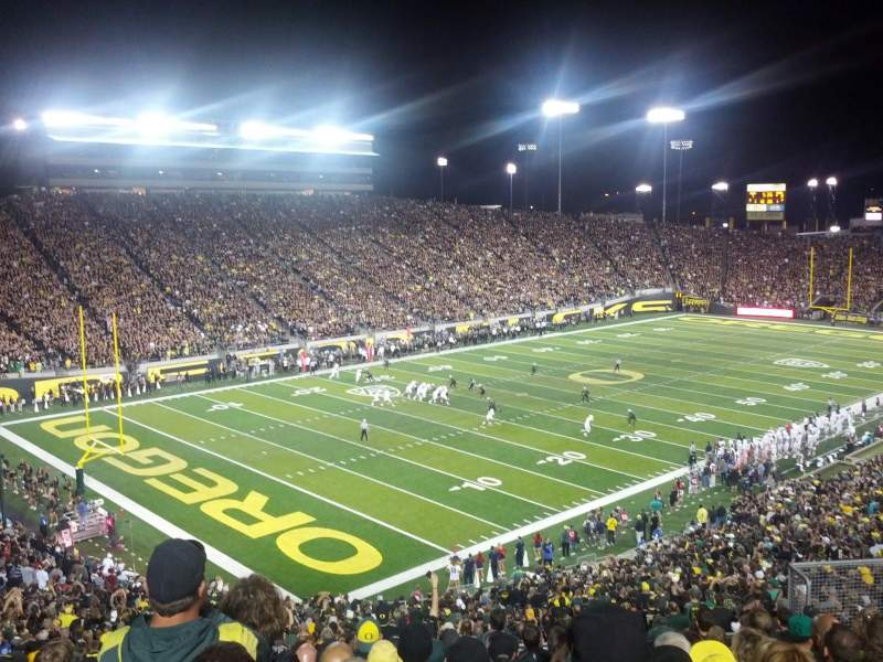 Seating view for Autzen Stadium Section 37 Row 53 Seat 15