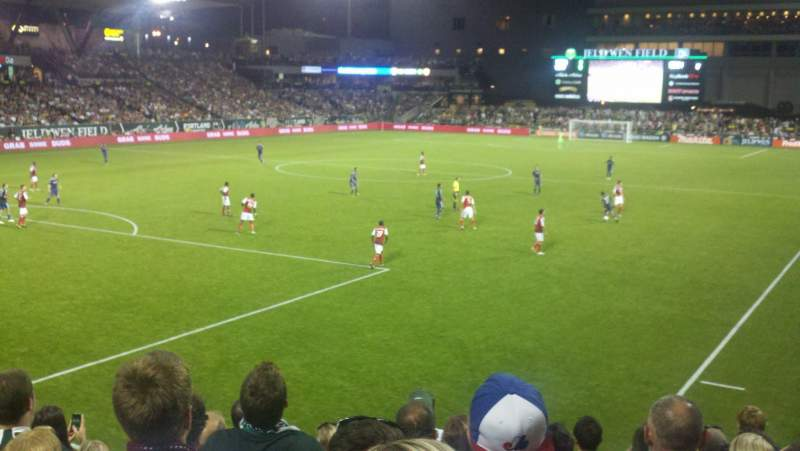 Seating view for Providence Park Section 111 Row I Seat 7