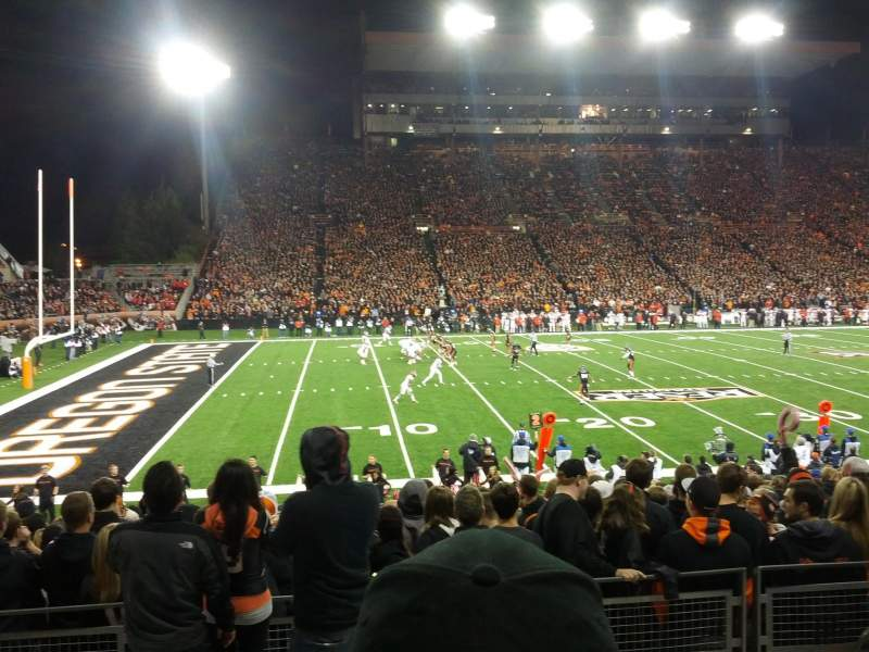 Seating view for Reser Stadium Section 119 Row 16 Seat 6