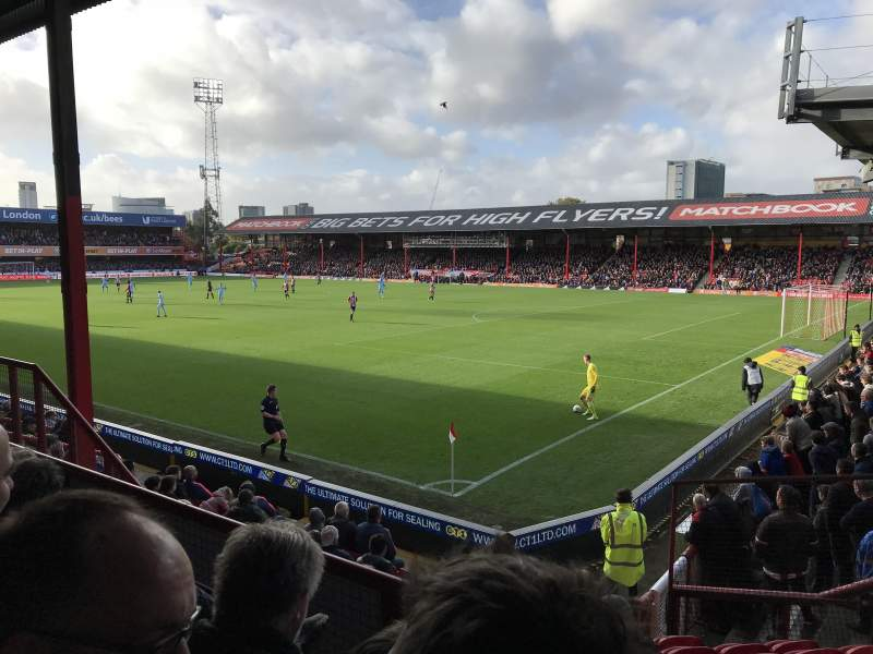 Seating view for Griffin Park Section B301 Row H Seat 6