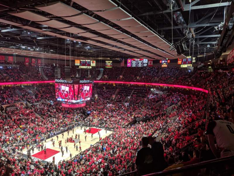 Seating view for Moda Center Section 323 Row K Seat 2