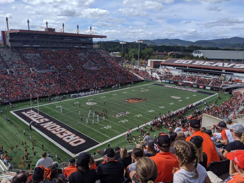 Seating view for Reser Stadium Section 226 Row 17 Seat 19