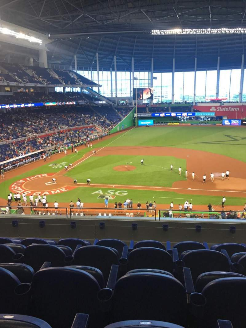 Seating view for Marlins Park Section 209 Row 5 Seat 18