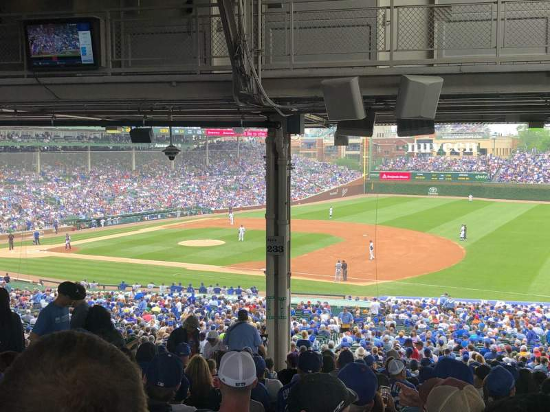 Seating view for Wrigley Field Section 233 Row 21 Seat 6