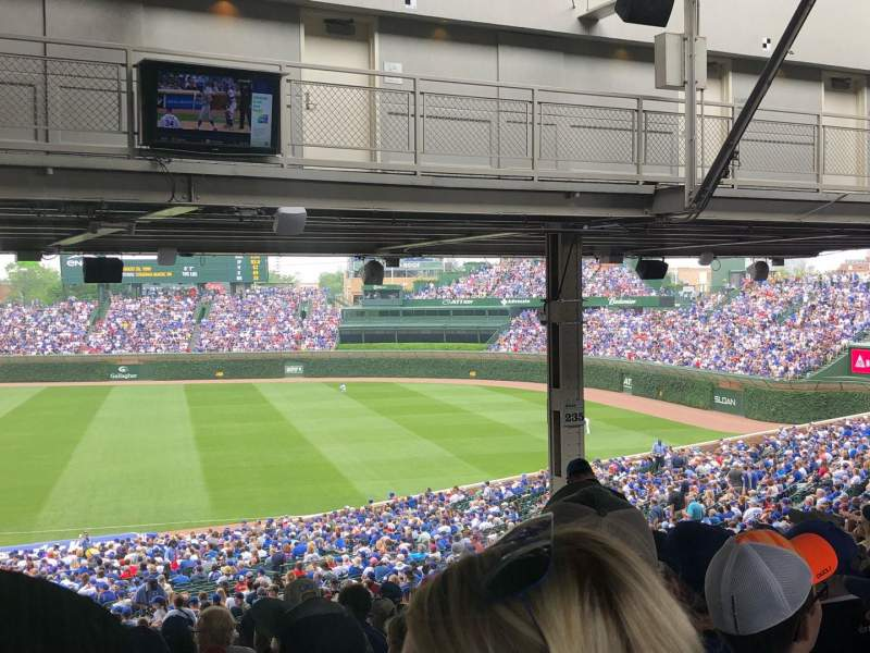 Wrigley Field, section: 233, row: 21, seat: 6