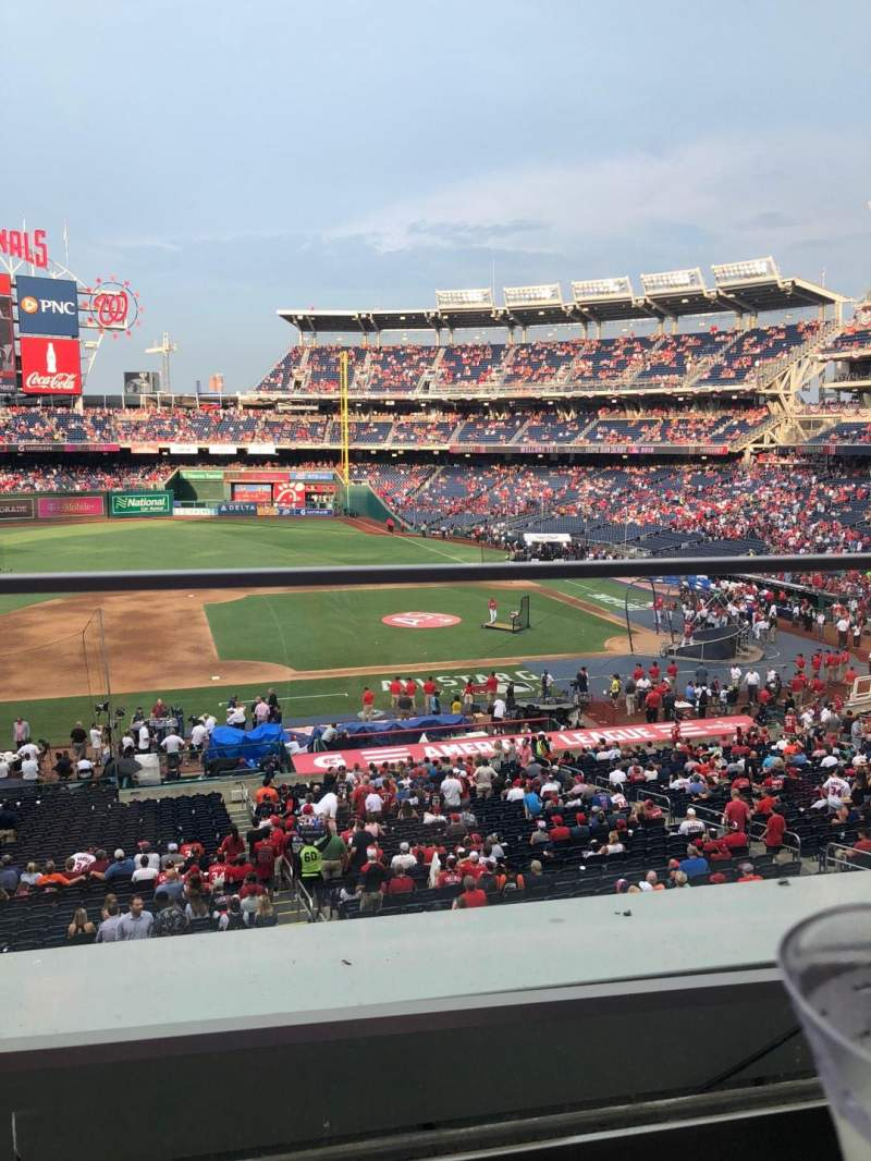 Seating view for Nationals Park Section 208 Row A Seat 19