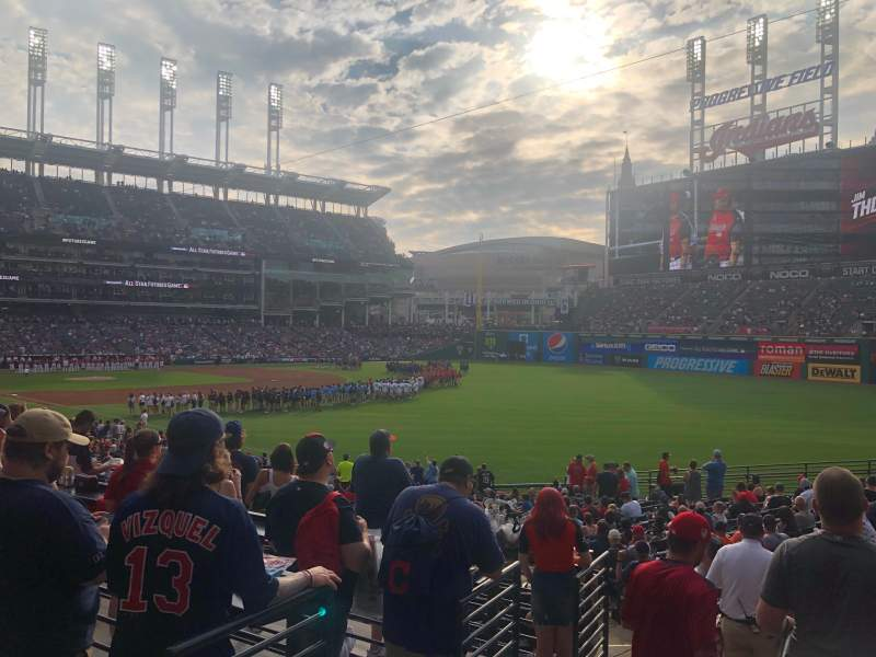 Seating view for Progressive Field Section Standing Room Only