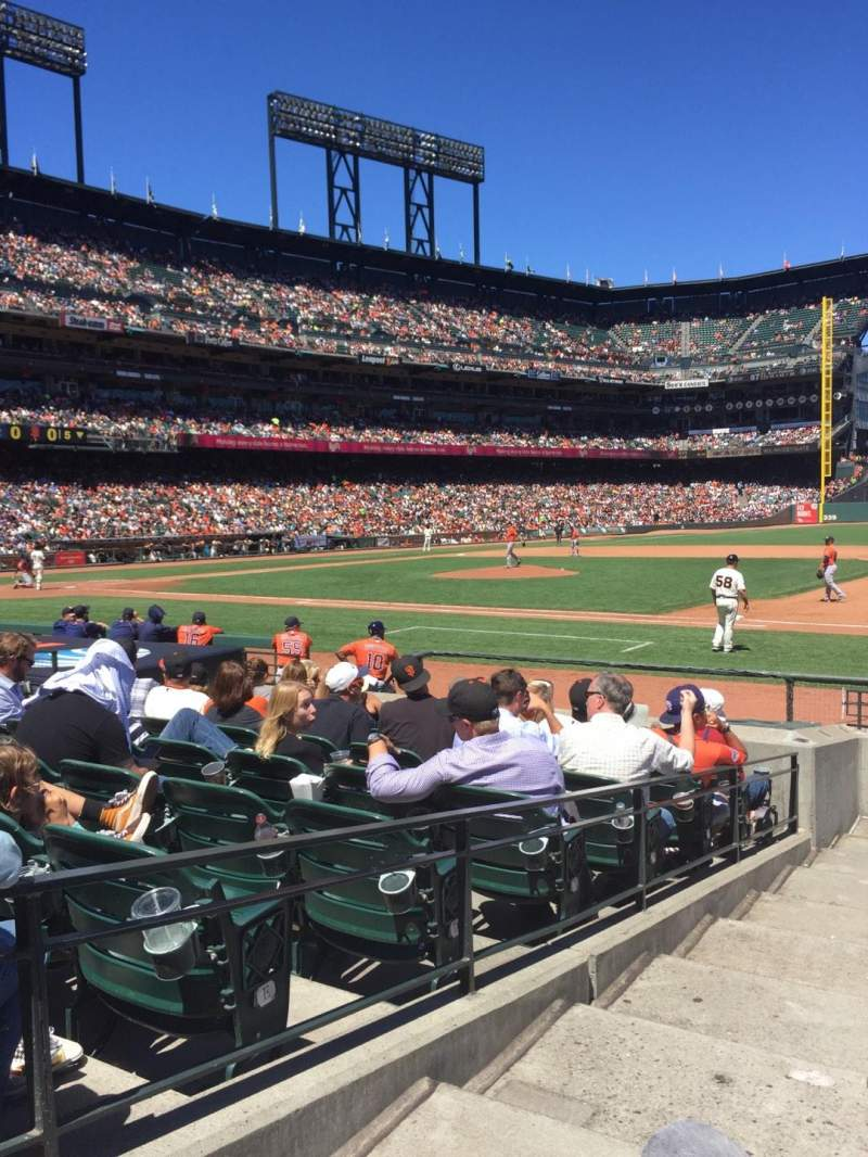AT&T Park, section: 106, row: 11, seat: 16