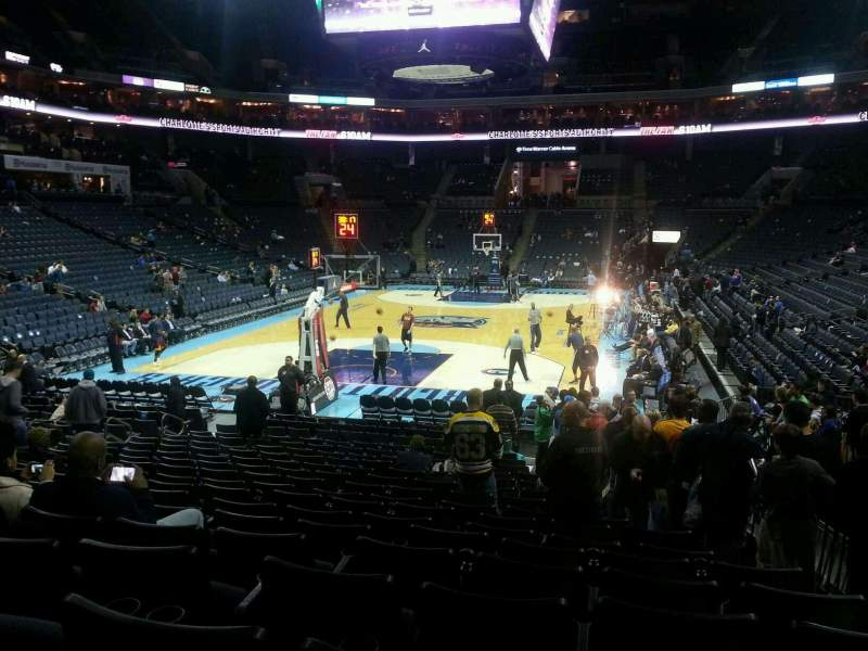 Seating view for Spectrum Center Section 109 Row P Seat 2
