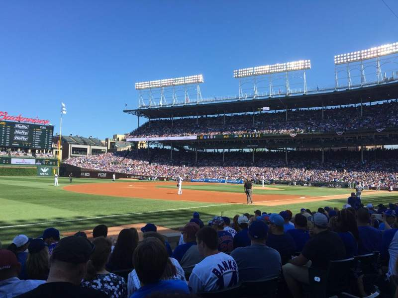 Seating view for Wrigley Field Section 8 Row 7 Seat 105
