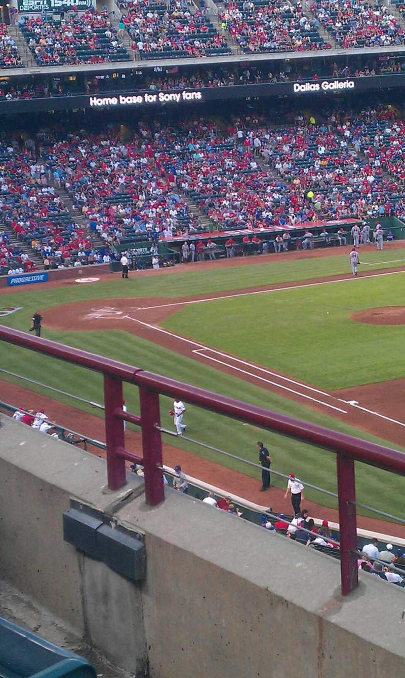 Seating view for Globe Life Park in Arlington Section 238 Row 2 Seat 13