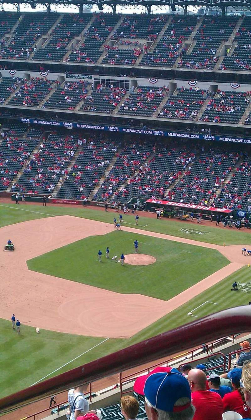 Seating view for Globe Life Park in Arlington Section 312 Row 21 Seat 20