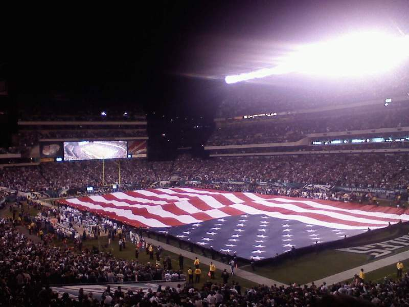 Seating view for Lincoln Financial Field Section SRO