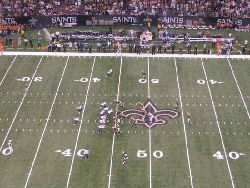 Seating view for Mercedes-Benz Superdome Section 640 Row 22 Seat 12