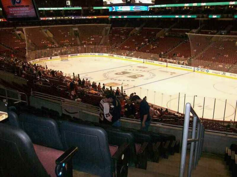 Seating view for Wells Fargo Center Section CB4 Row 1 Seat 5