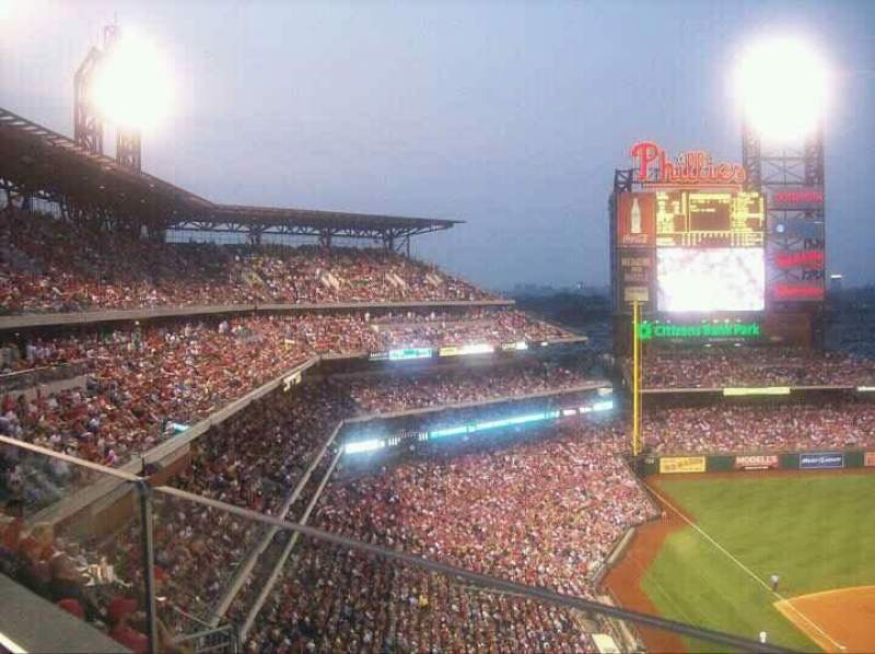 Seating view for Citizens Bank Park Section 420 Row 1 Seat 13