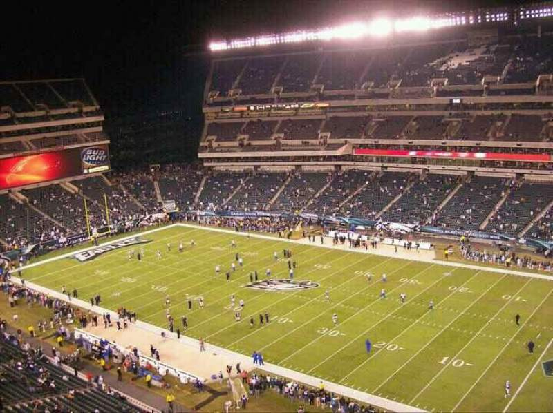 Seating view for Lincoln Financial Field Section 230 Row 21 Seat 16