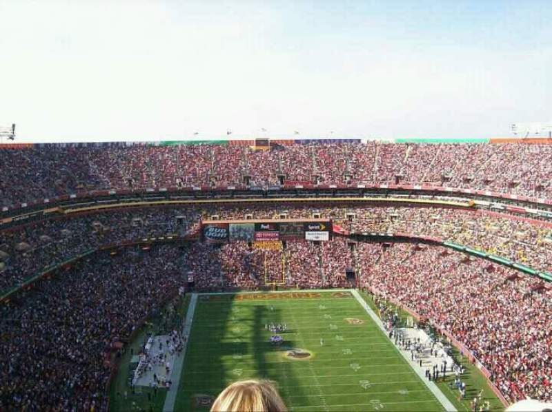 Seating view for FedEx Field Section 442 Row 29 Seat 11