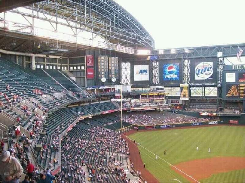 Seating view for Chase Field Section 316 Row 15 Seat 14