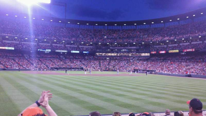Seating view for Oriole Park at Camden Yards Section 86 Row 10 Seat 6