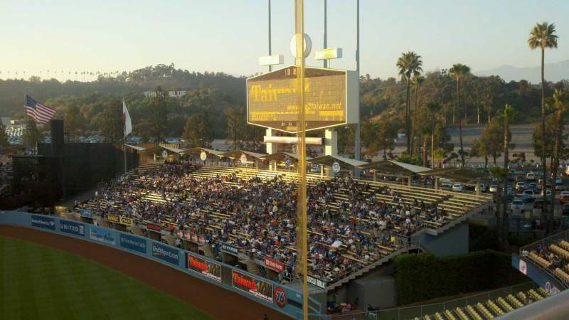 Seating view for Dodger Stadium Section 40RS Row A Seat 1
