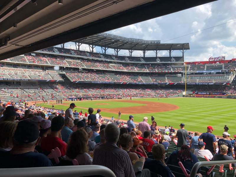 Seating view for SunTrust Park Section 112 Row 14 Seat 27