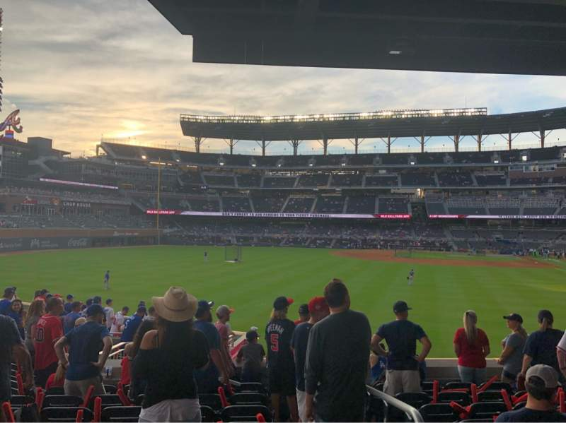 Seating view for SunTrust Park Section 146 Row 17 Seat 1