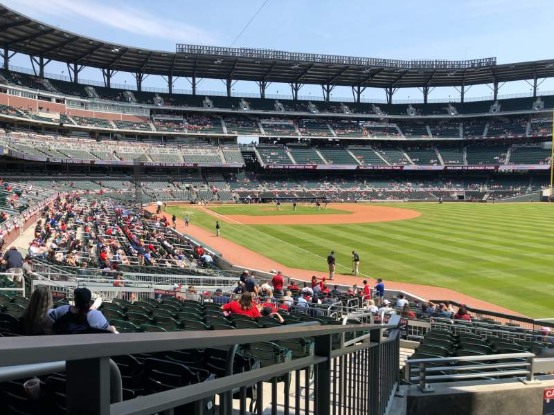 Seating view for SunTrust Park Section 108 Row 5 Seat 6