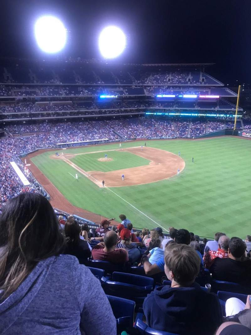 Seating view for Citizens Bank Park Section 308 Row 12 Seat 17