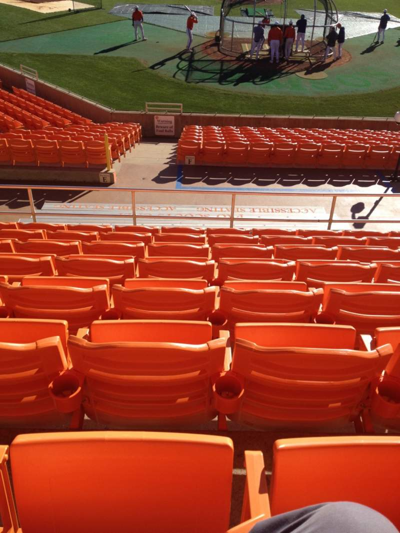 Seating view for Doug Kingsmore Stadium Section UF Row H Seat 16,17,18,19