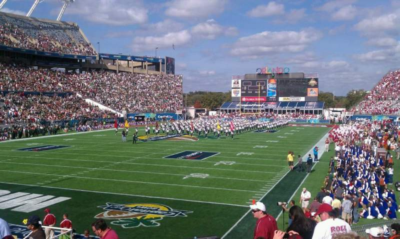 Seating view for Camping World Stadium Section 117 Row p Seat 6