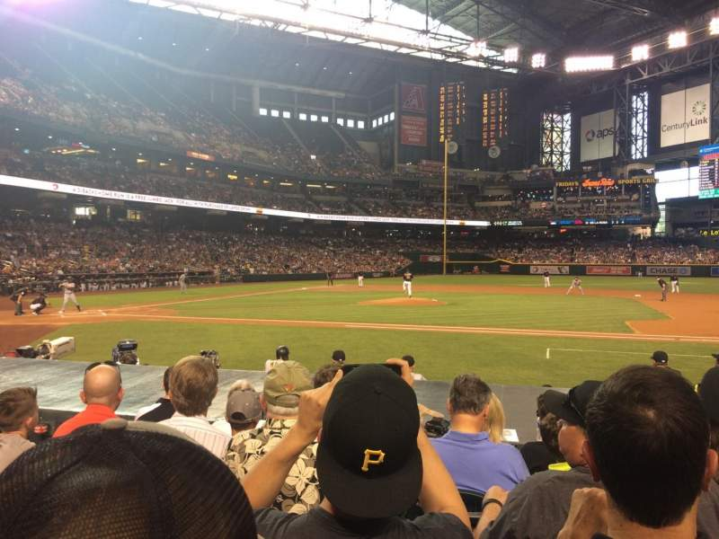 Seating view for Chase Field Section E Row 11 Seat 8
