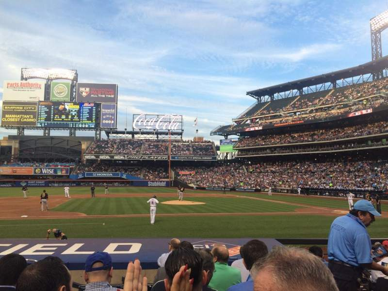 Seating view for Citi Field Section 121 Row 7 Seat 12