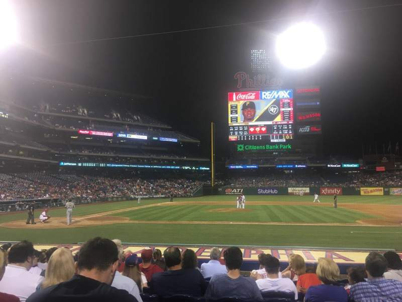 Seating view for Citizens Bank Park Section 117 Row 10 Seat 9