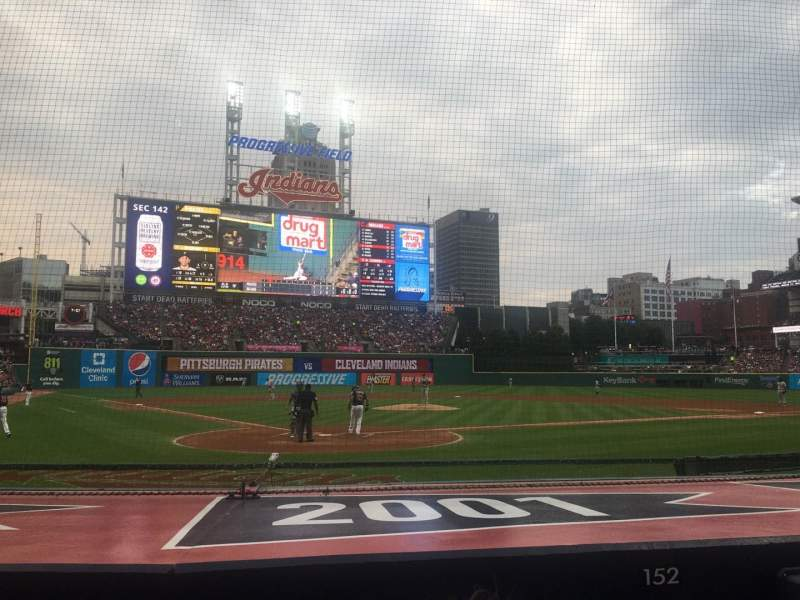 Seating view for Progressive Field Section 152 Row G Seat 3